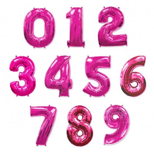Фольгированные цифры розовые фото в интернет-магазине Шарики 24