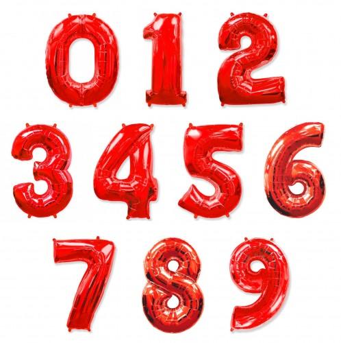 Фольгированные цифры красные фото в интернет-магазине Шарики 24
