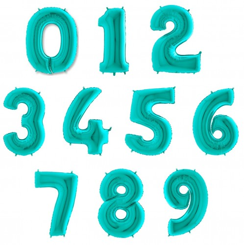 Фольгированные цифры мятные фото в интернет-магазине Шарики 24