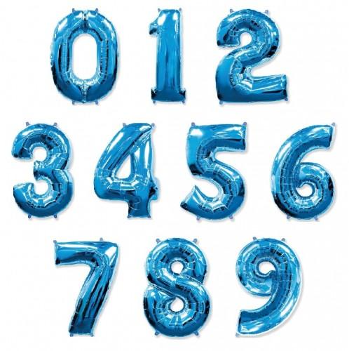 Фольгированные цифры синие фото в интернет-магазине Шарики 24