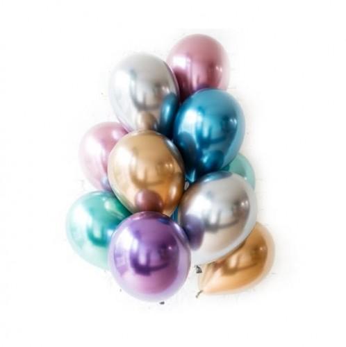 Разноцветные хромированные шарики фото в интернет-магазине Шарики 24