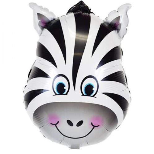 Фольгированный шарик голова зебры фото в интернет-магазине Шарики 24