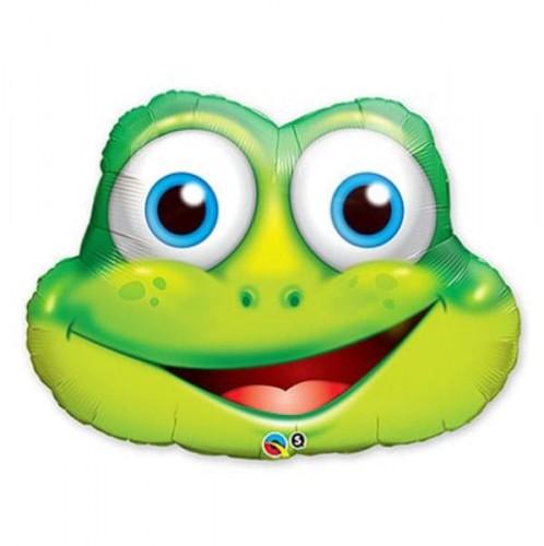 Фольгированный шарик голова лягушки фото в интернет-магазине Шарики 24