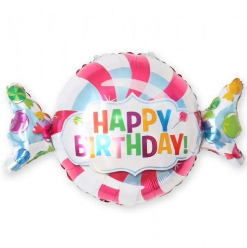 Фольгированный шар конфетка 100см фото в интернет-магазине Шарики 24