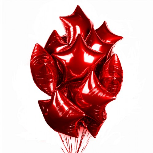 Фольгированные красные звезды фото в интернет-магазине Шарики 24