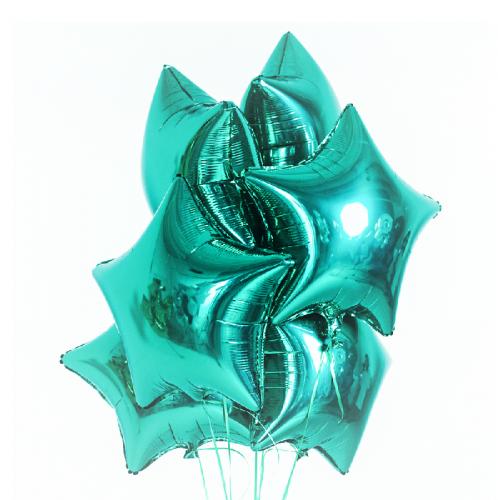 Фольгированные звезды мятные фото в интернет-магазине Шарики 24