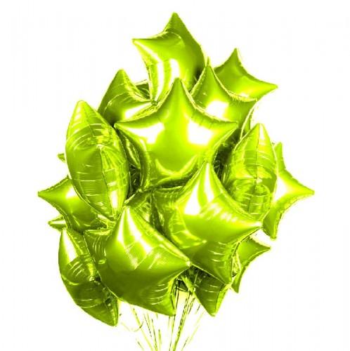 Фольгированные салатовые звезды фото в интернет-магазине Шарики 24