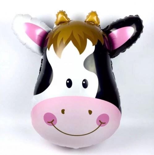 Фольгированный шарик голова коровы фото в интернет-магазине Шарики 24