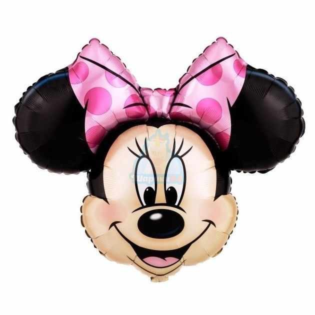 Фольгированная фигура голова Минни Мауса