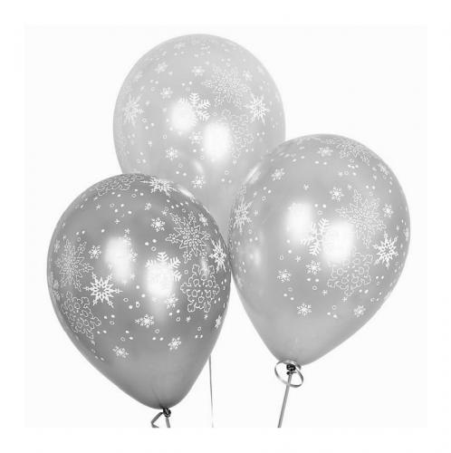 Снежинки серебряные фото в интернет-магазине Шарики 24