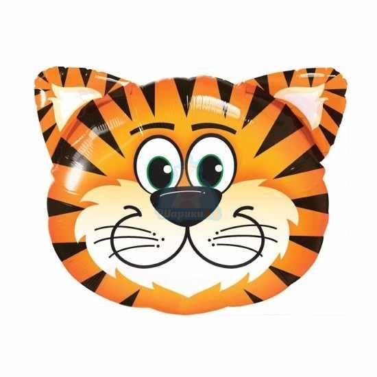 Фольгированная фигура голова тигренка
