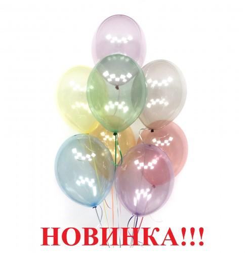 Воздушные шары нежное ассорти кристалл фото в интернет-магазине Шарики 24