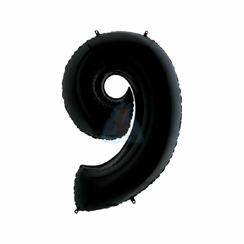 Шар цифра 1 черная