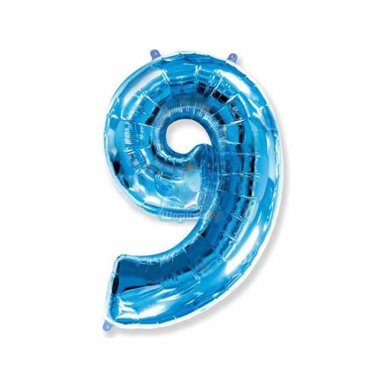 Фольгированная цифра 1 синяя