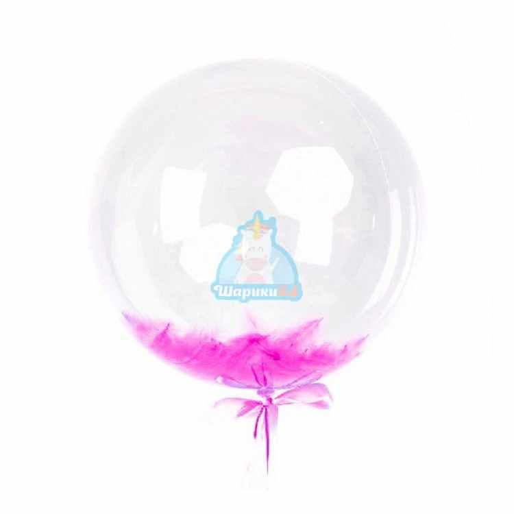 Кристальный шар Bubbles с белыми перьями