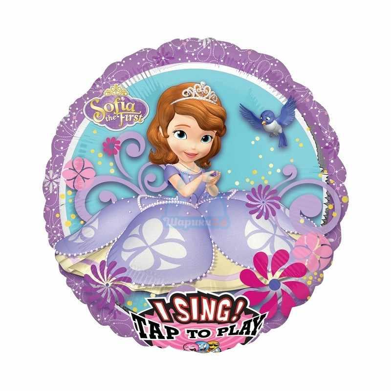 Поющий фольгированный шар принцесса София