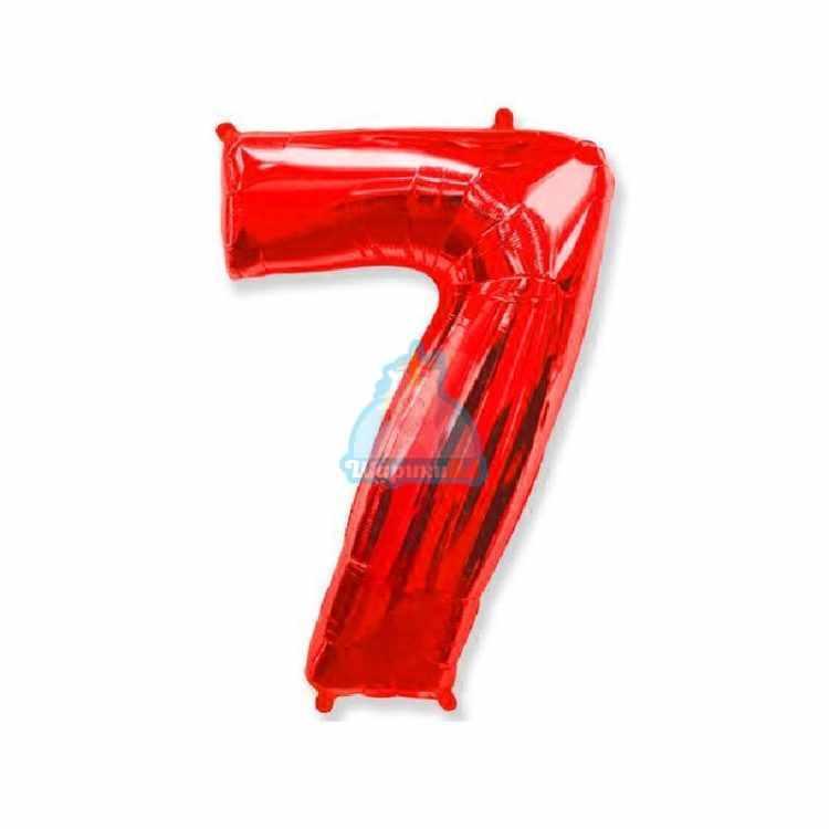 Фольгированная цифра 1 красная