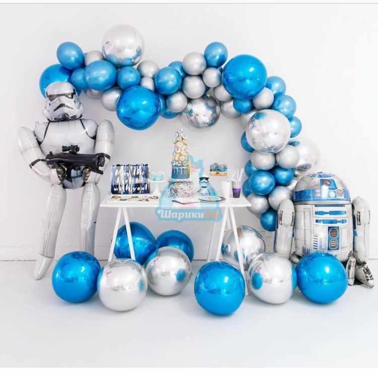 """Оформление шарами """"Звездные войны"""""""