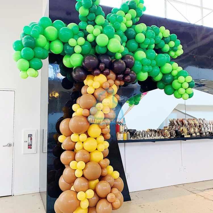 Оформление шарами пальма из шаров 3 метра