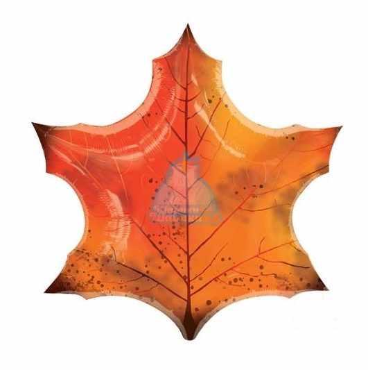 Фольгированный шар кленовый лист 70 см.