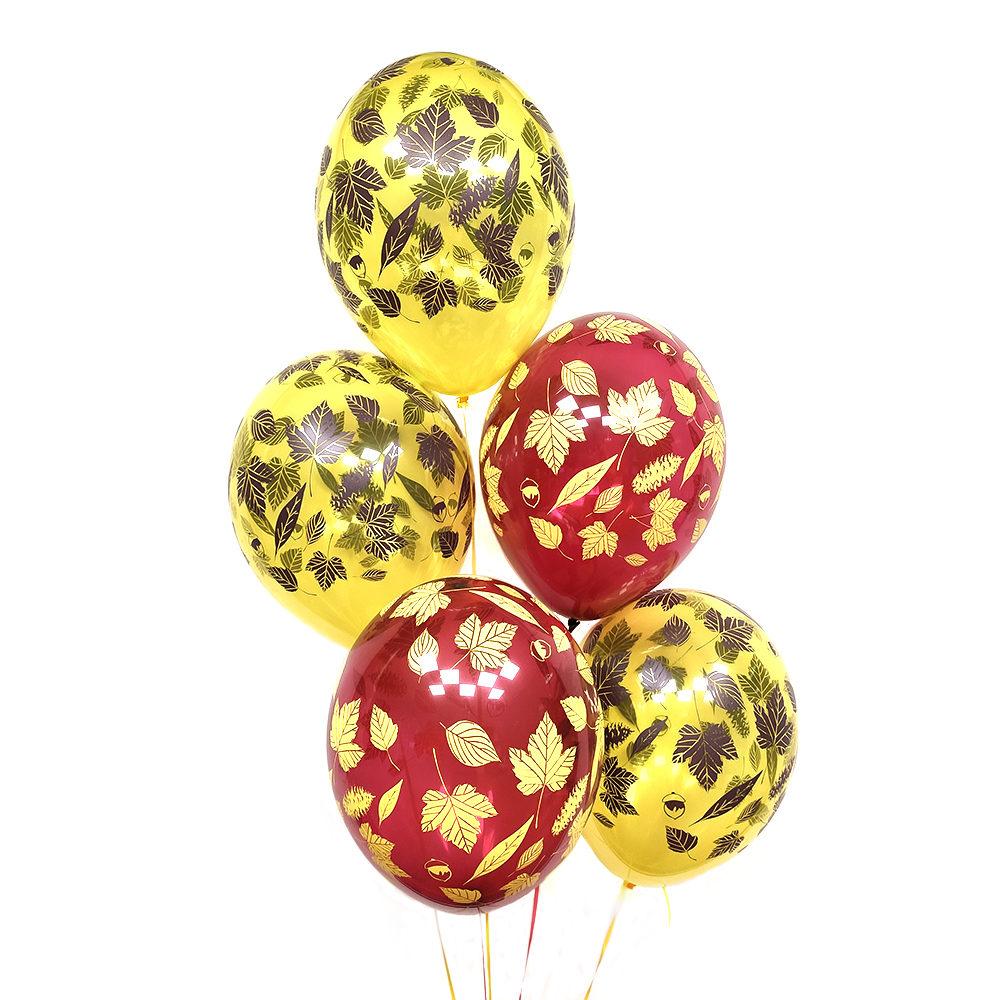 Желтые и красные шарики на 1 сентября