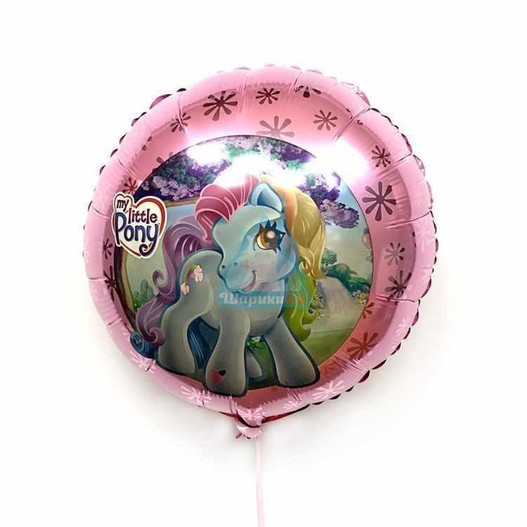 Фольгированный круг My little pony