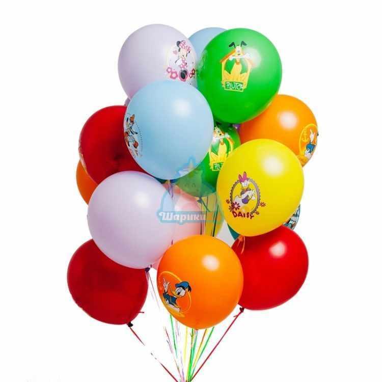 Облако разноцветных шариков Микки и друзья