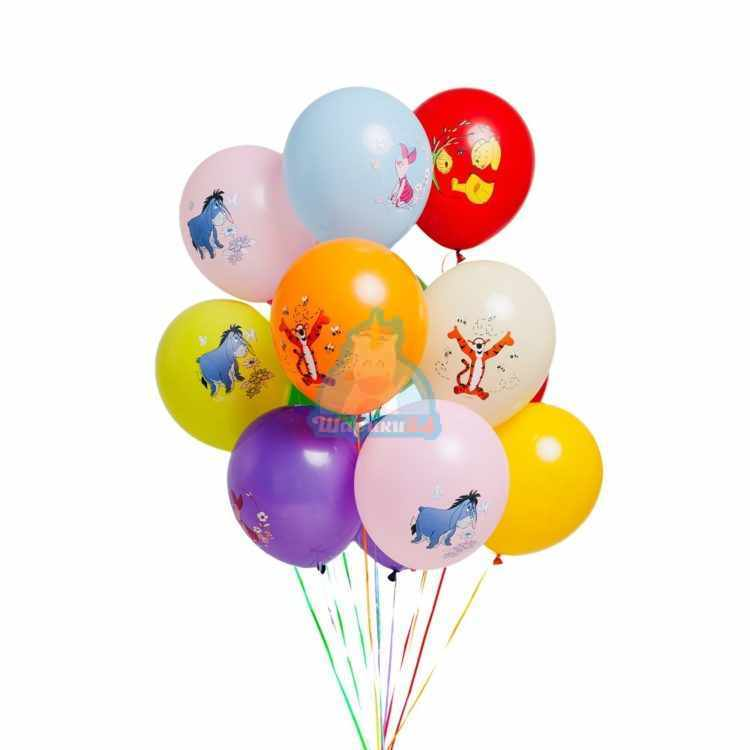 Облако разноцветных шариков Винни пух и друзья
