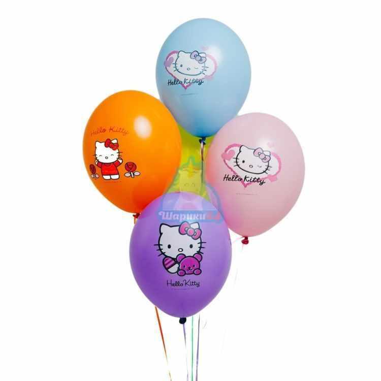 Облако разноцветных шариков Hello Kitty - 25 шт