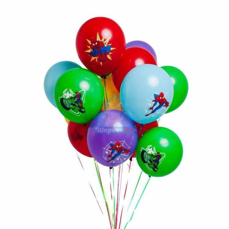 Облако разноцветных шариков Человек Паук
