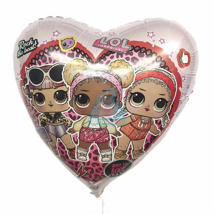 Фольгированное сердце Куклы ЛОЛ (LOL), Стильные подружки
