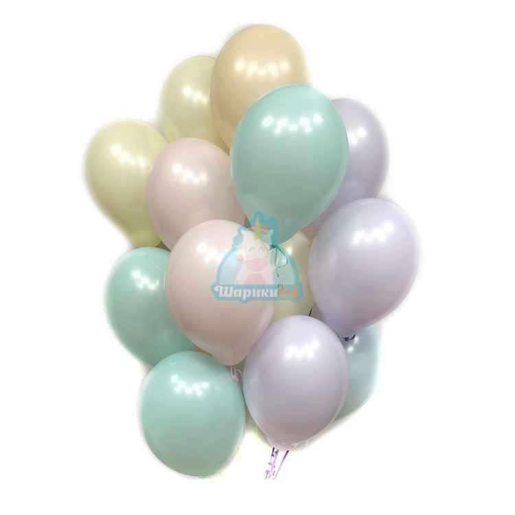 Воздушные шарики разноцветные нежные пастель