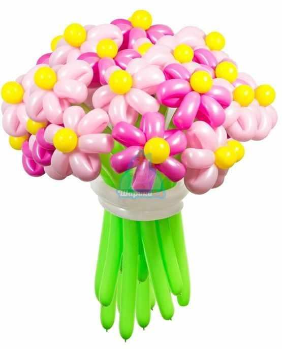 Букет цветов из шаров Ромашки нежные