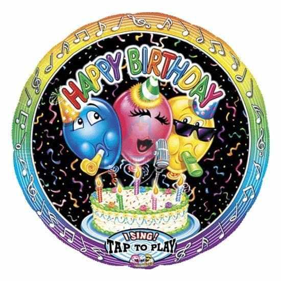 Поющий фольгированный шар Веселые шары