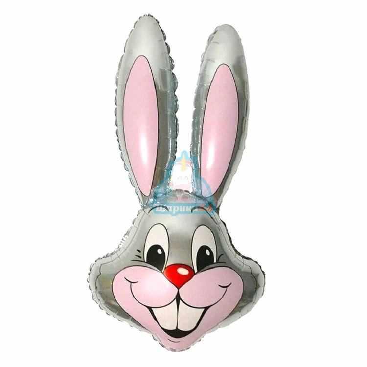 Фольгированная фигура голова зайца