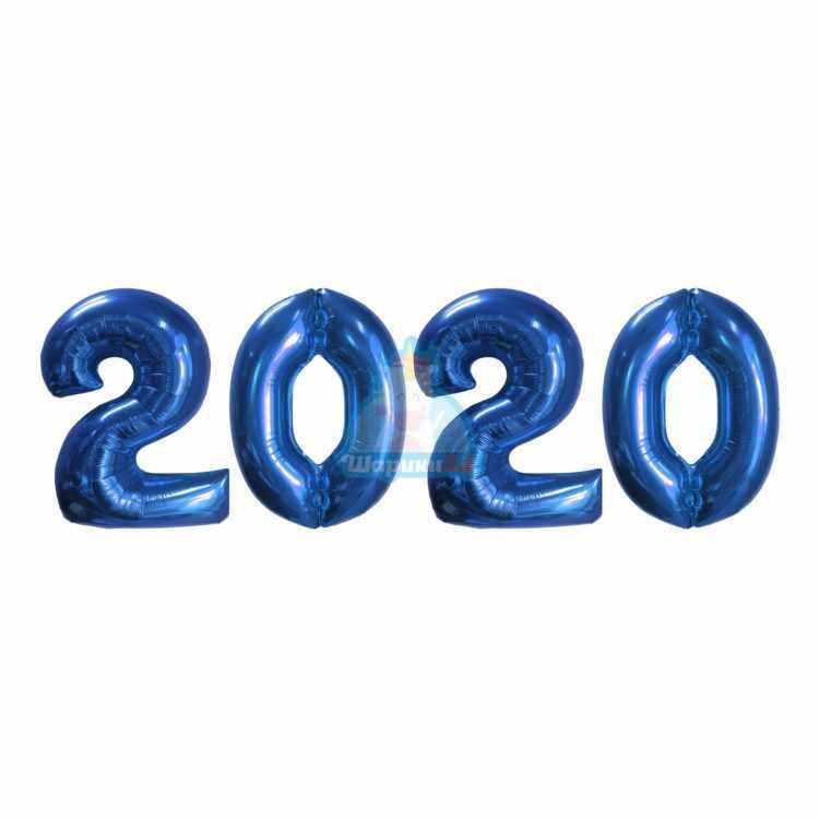 Фольгированные цифры синие 2020