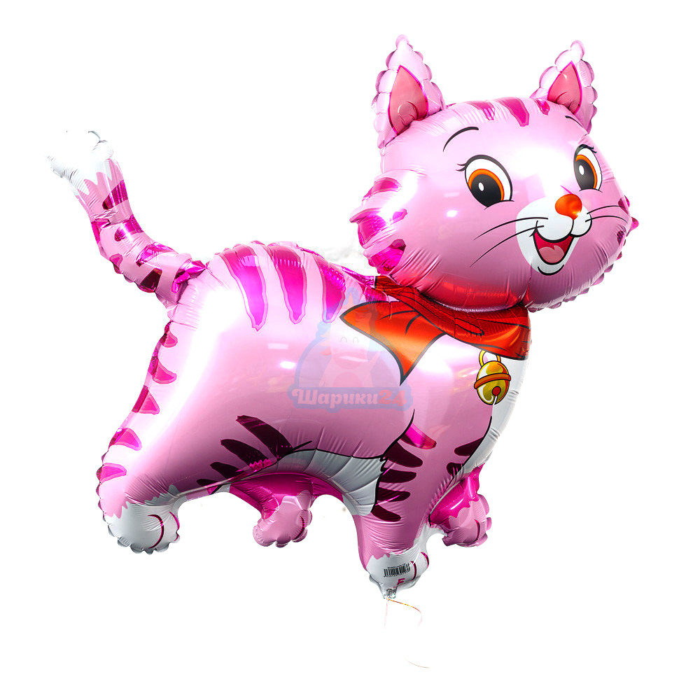 Фольгированная фигура кошечка розовая