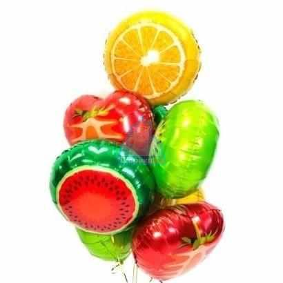 Фольгированные фрукты на 8 марта