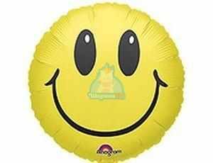Фольгированный шарик Смайлик желтый