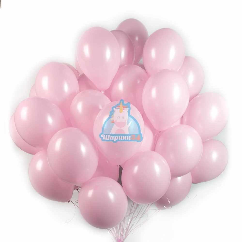Гелиевые шары розовые 50 штук
