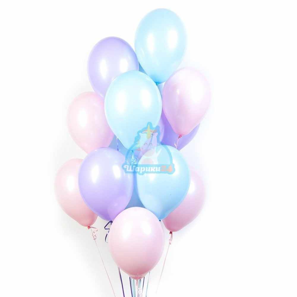 Воздушные шарики ассорти нежные цвета на 8 марта