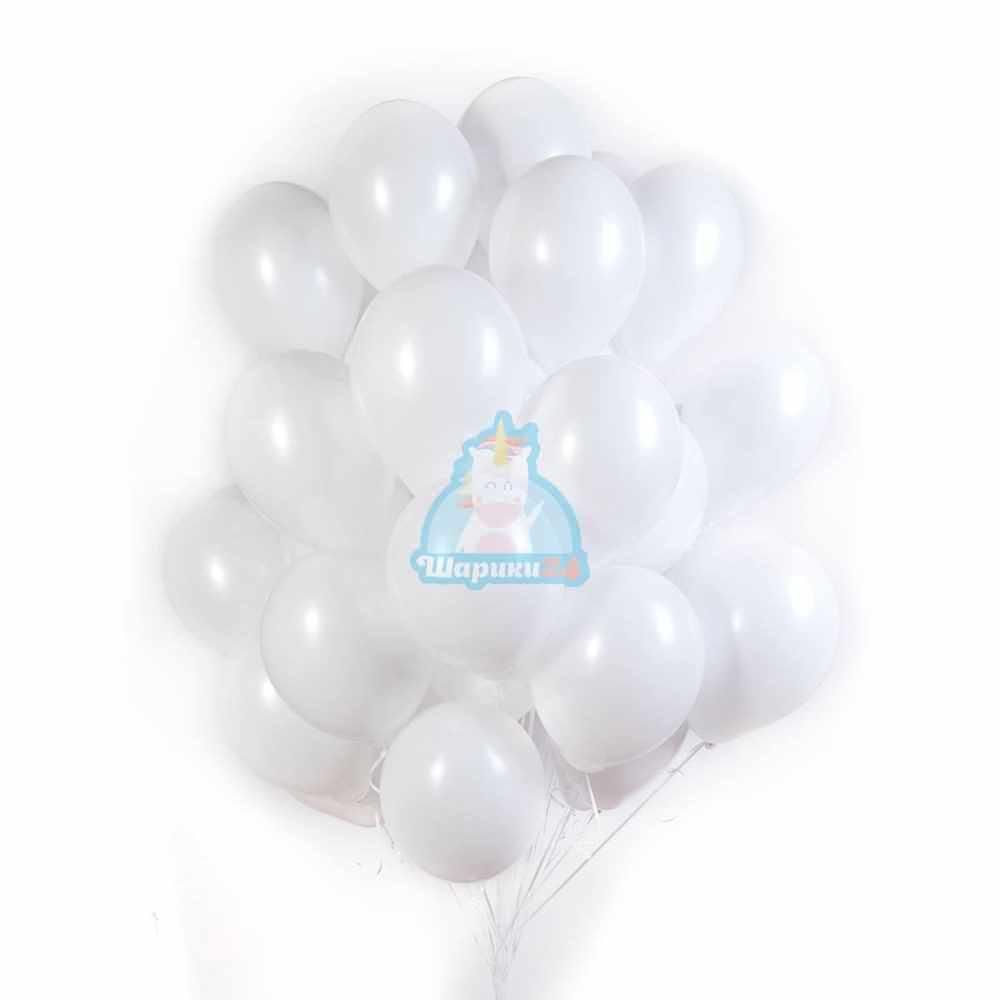 Белые воздушные шары на 8 марта