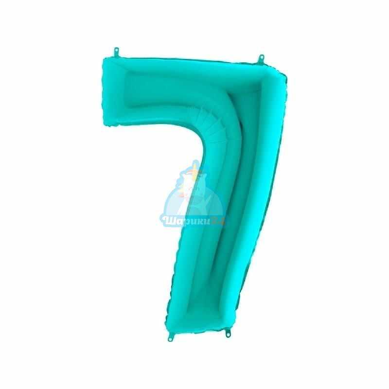 Шар цифра 7 мятная