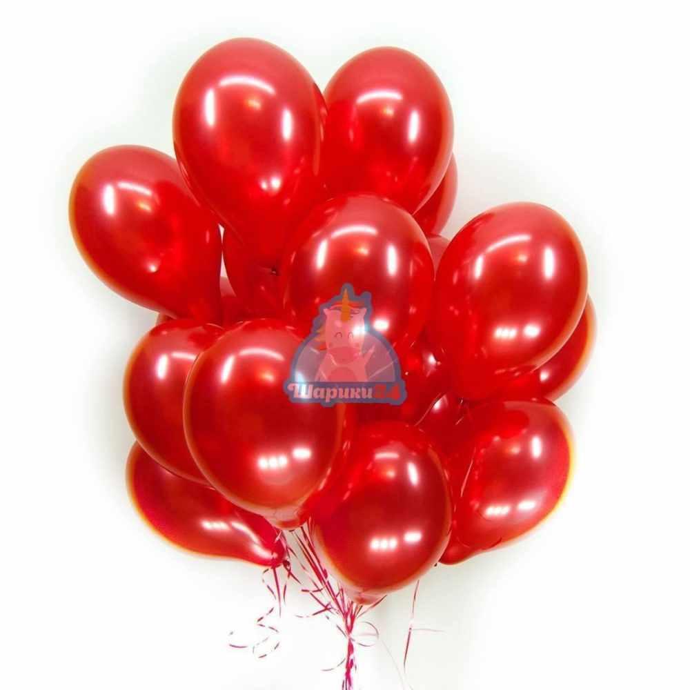Красные воздушные шары на 8 марта