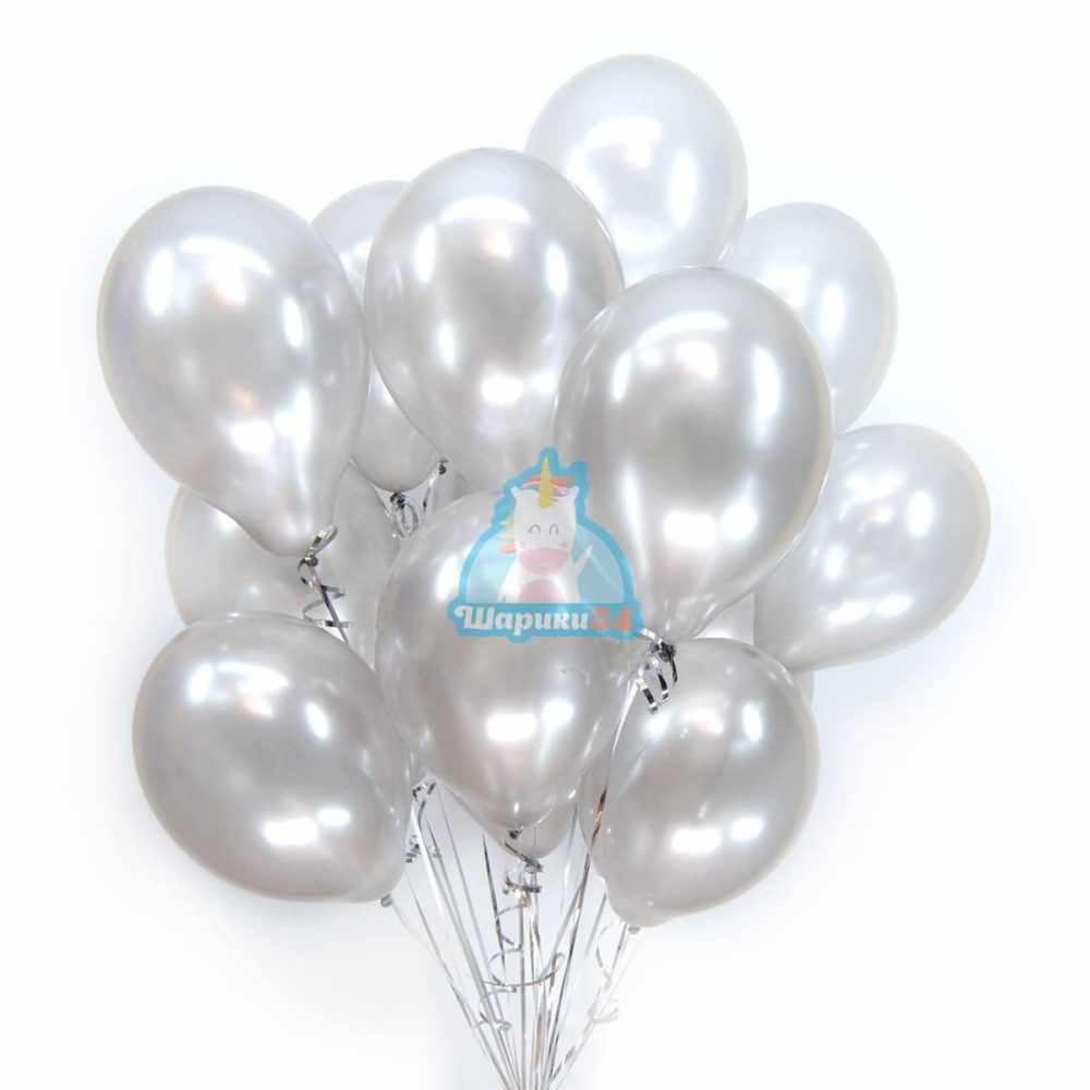 Серебряные воздушные шары на 8 марта
