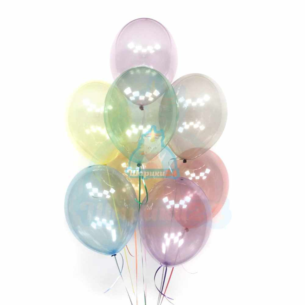 Воздушные шарики на 8 марта нежное ассорти кристалл