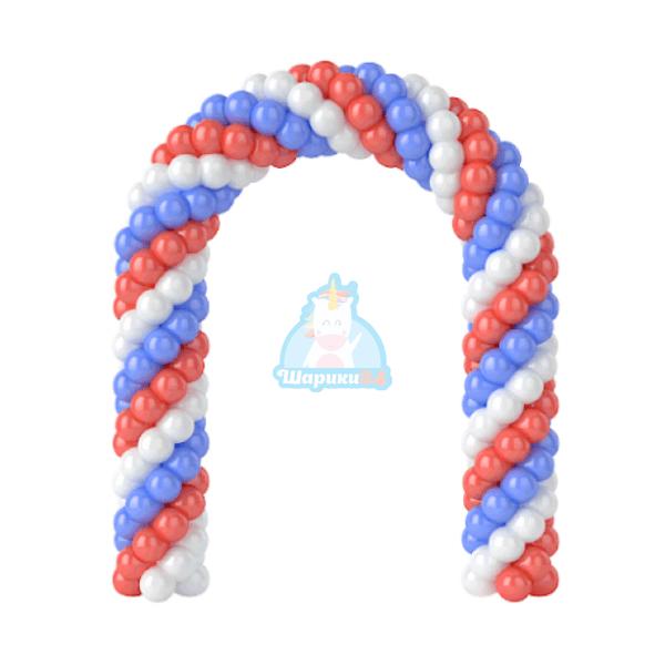 Арка из матовых шаров 5м