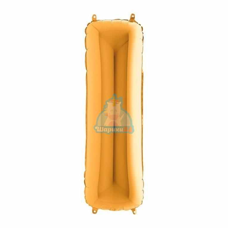 Фольгированная золотая буква I