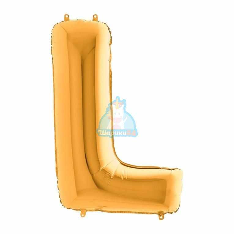 Фольгированная золотая буква L