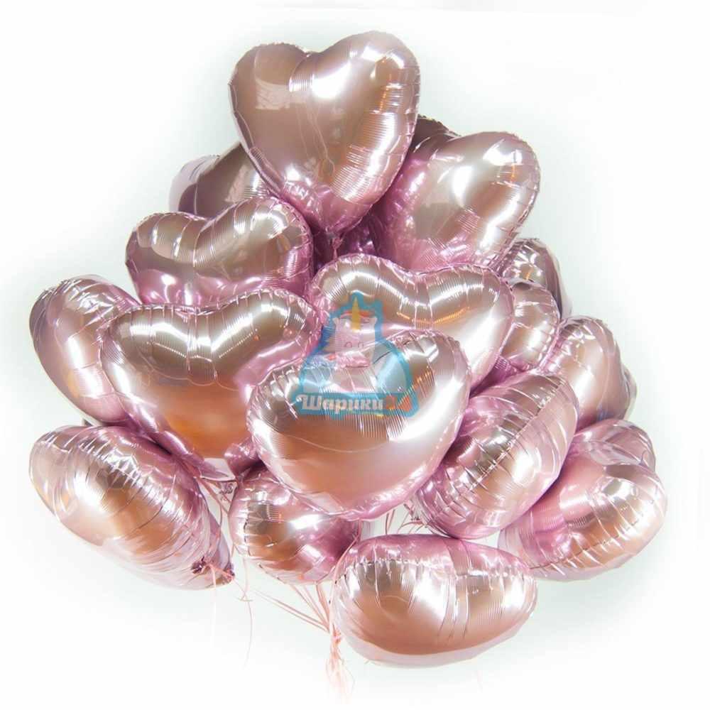 Розовые сердца на день влюбленных